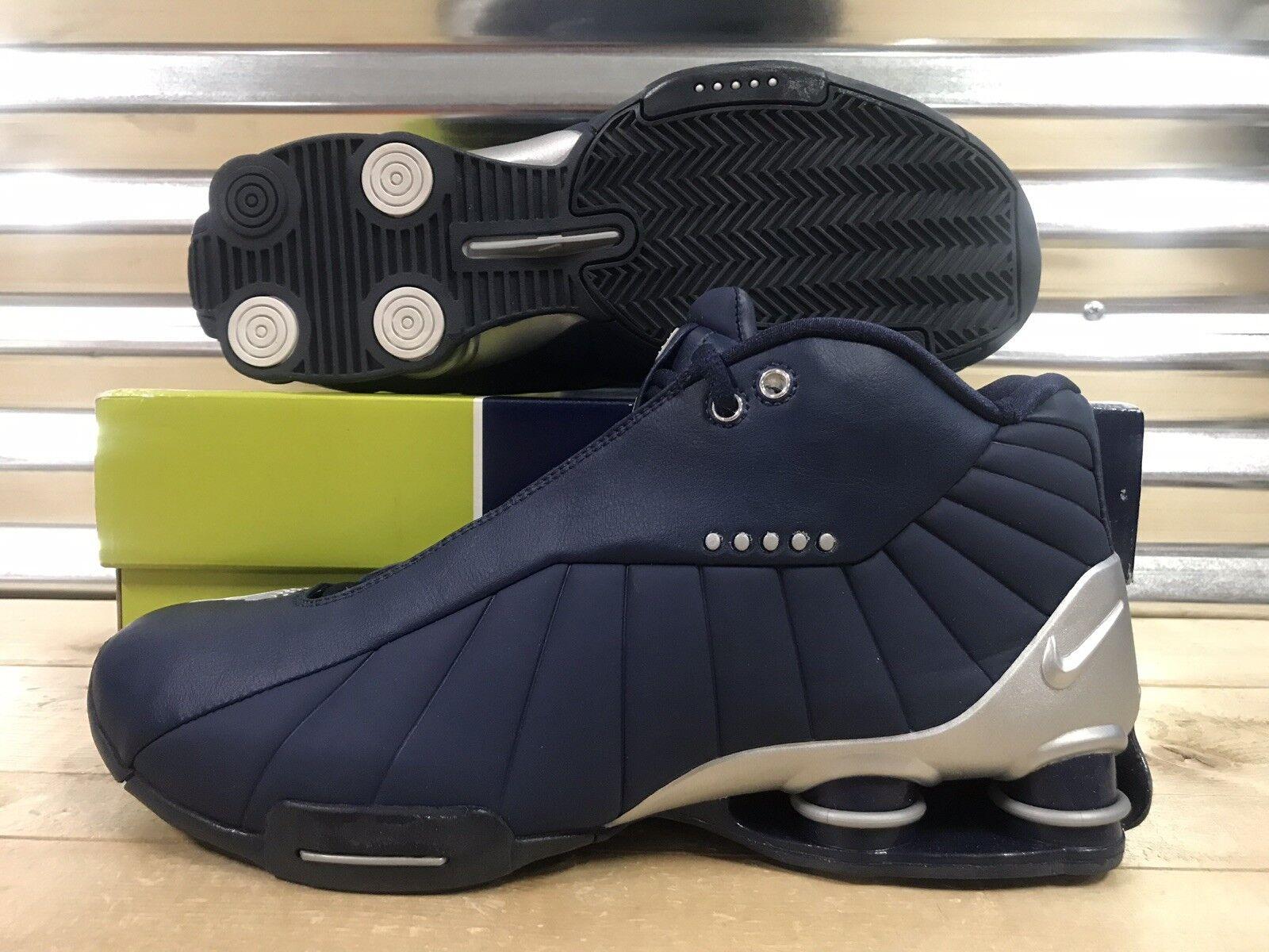 Nike Shox BB4 iD 2005 Vince Carter OG shoes Navy bluee Silver SZ 11 ( 302997 )