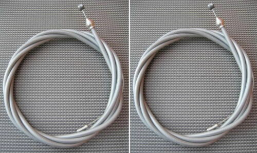 2 X SILVER GREY MOUNTAIN//TRADITIONAL TYPE BIKE BRAKE CABLES FERRULES+CRIMPS