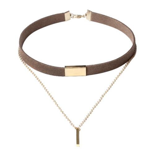 1Stk 32cm Halskette Halsband Halsschmuck Choker Kette Quaste Mehrschicht Mode