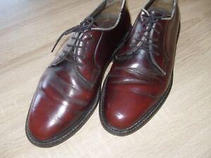 Vintage-Hamilton-Business-Echtleder-England-Schnuerschuhe-41-weinrot-bordeaux