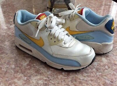 Nike Air Max 90 CL (Kid) WhiteBlue Frost Running Shoes Size 5.5Y #312153 171 | eBay