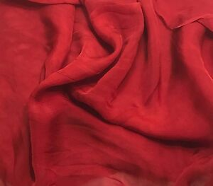 Sheer Soft Silk ORGANZA Fabric Hand Dyed TAUPE BROWN 1//3 yard remnant