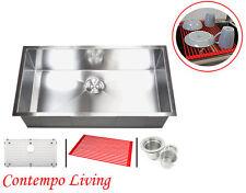 "32"" Undermount Stainless Steel Zero Radius Single Bowl Kitchen sink"