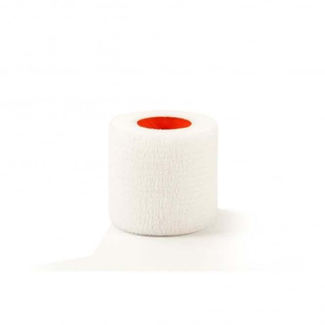 White Cohesive Bandage Vet Wrap No Adhesive Support Bandage Latex Free 5cm x4.5m