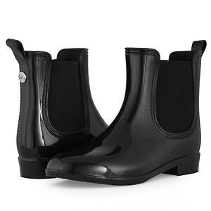 SheSole-Womens-Ladies-Black-Wellies-Ankle-Short-Chelsea-Rain-Boots-Waterproof