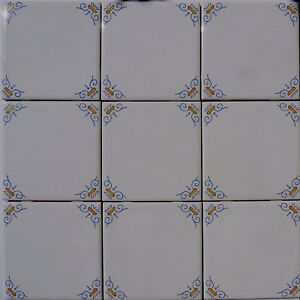 Delft-Style-Wall-Tiles-Blue-and-Yellow-Oxen-Corners-4-S-F
