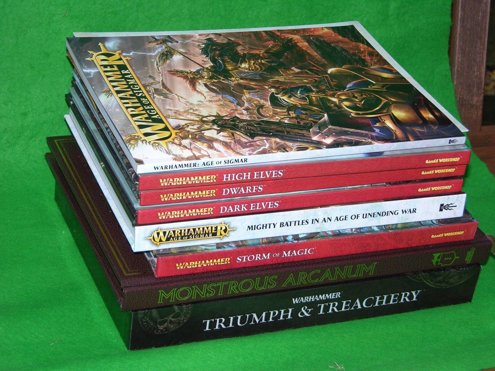 Warhammer Fantaisie Basize Livres et Jeu Suppléments Multi-Annonce