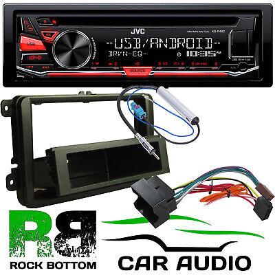 VW CADDY JVC CD MP3 USB AUX Car Stereo Player /& Single Din Fascia Fitting Kit