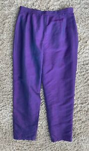 Austin Reed Purple Pure Silk Trousers Tapered Lined Occasion Wedding Party Uk 8 Ebay