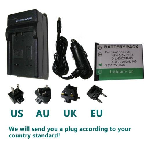 Battery Charger for Fujifilm FinePix JX550 JX560 JX580 JX590 Digital Camera
