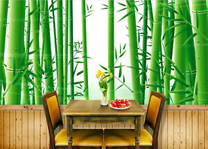 Details about 3D Green Bamboo Forest 89 Wallpaper Mural Paper Wall Print  Wallpaper Murals UK