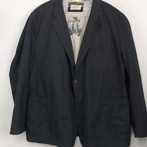 CAMEL-ACTIVE-Mens-Black-Linen-Cotton-Blend-Blazer-Jacket-Sport-Coat-50-0988