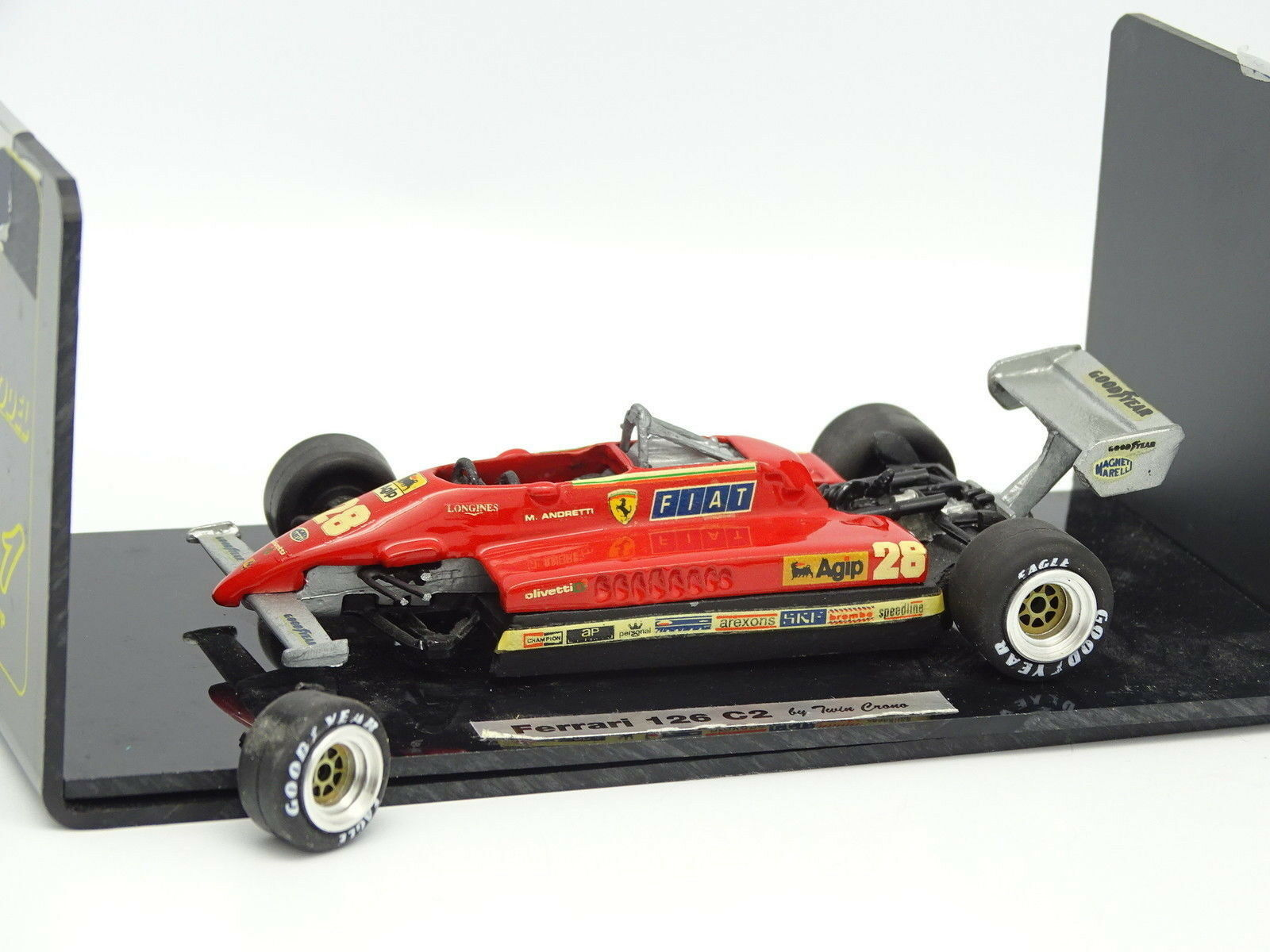Twin Matt Set Built 1 43 - f1 Ferrari 126 c2 Andretti