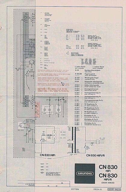 Service Manual Grundig Cn 830 Cassette Circuit Diagram Service Diagram