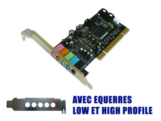 sound card PCI 5.1 - DOLBY - CMEDIA CMI8738/PCI-6ch-LX - LOW + HIGH PROFILE