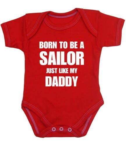 12 m BABYPREM Baby Clothes SAILING Daddy SAILOR Bodysuit Vest Shower Gifts NB