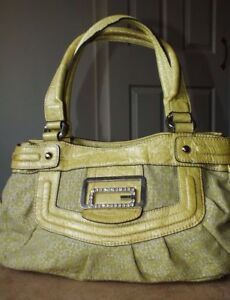 Guess Yellow tote Medium Lime Handbag qqaz7TR8