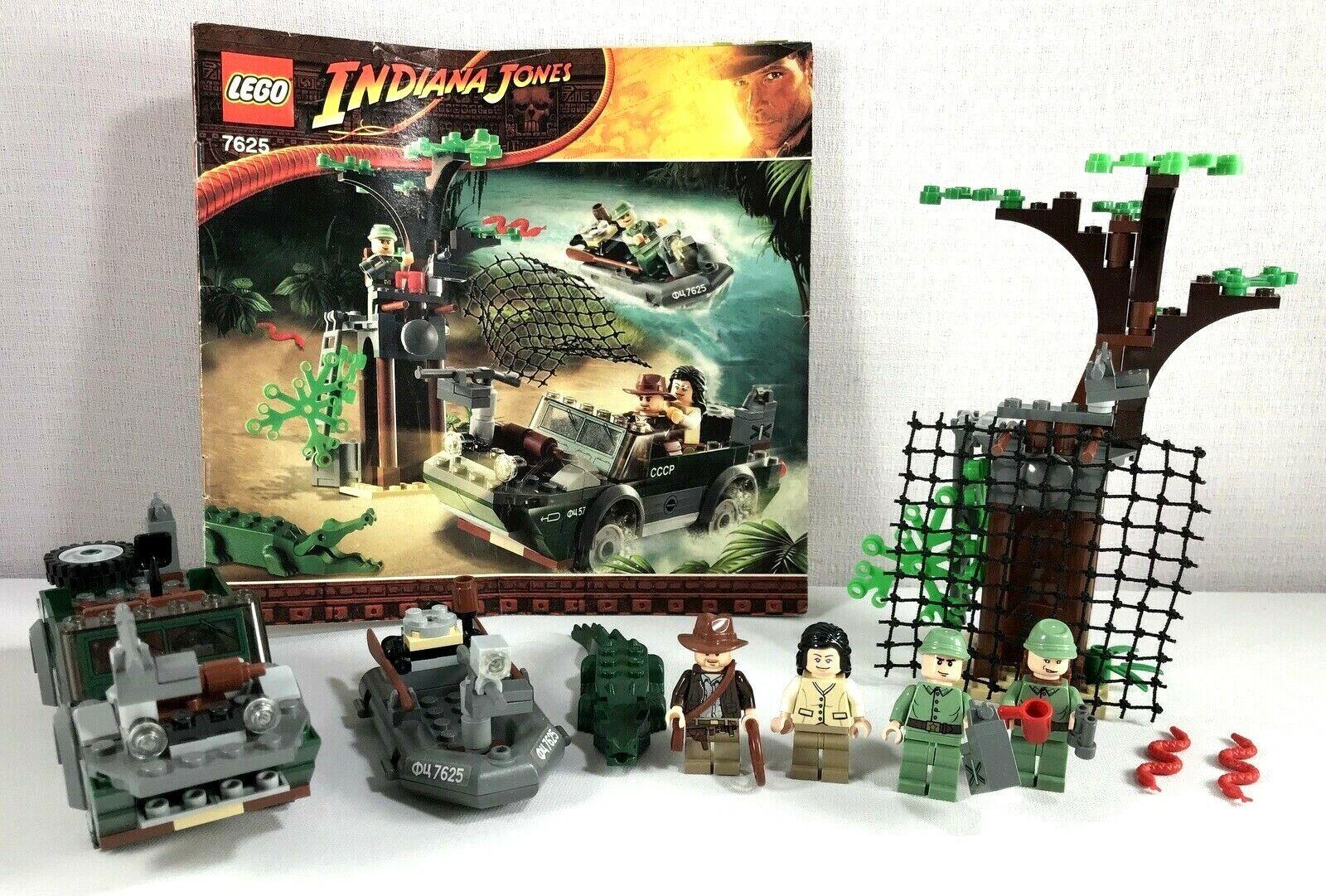 LEGO INDIANA JONES set River Chase 7625 complet avec  4 minifigs  choisissez votre préférée