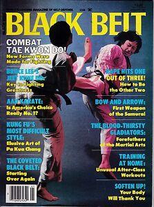 BLACK BELT MAGAZINE-JANUARY,1985-VINTAGE KARATE MAGAZINE