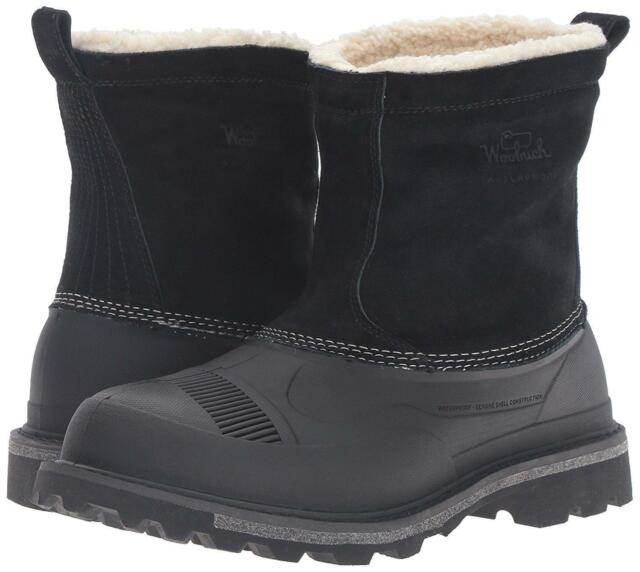 Fully Wooly Slip Snow Boot Black Size