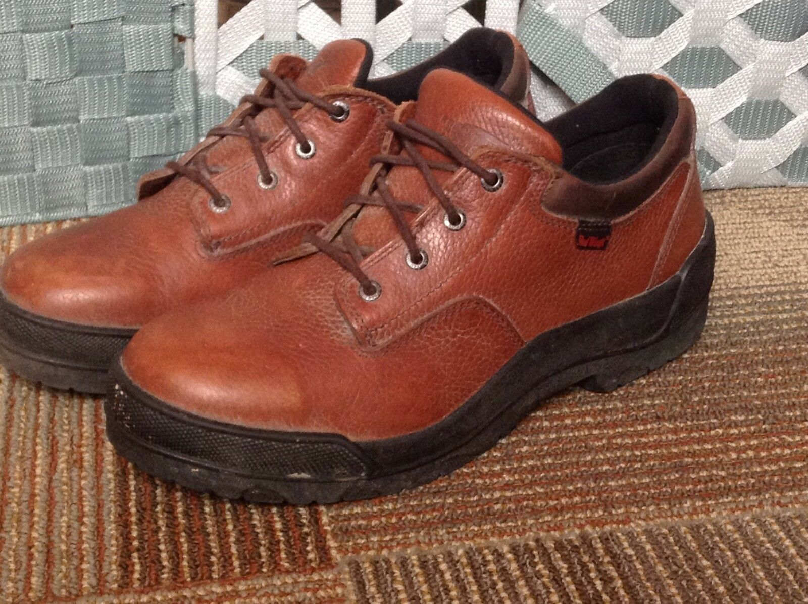 VTG Red Wing Steel Toe Oxford shoes Brown Leather Men's USA Made 10 D