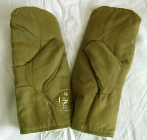 Soviet-Russian-Military-Army-Uniform-Winter-Mittens-Gloves-Fur-New-USSR