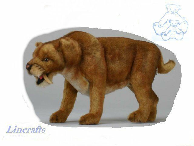 Hansa Large Sabre Tooth Tiger 4885 Soft Toy Sold by Lincrafts Established 1993