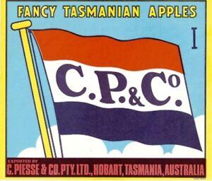 SALE-Vintage-Tasmania-Apple-Case-Labels-Fruit-Art-Poster-034-bakers-dozen-F-034-13