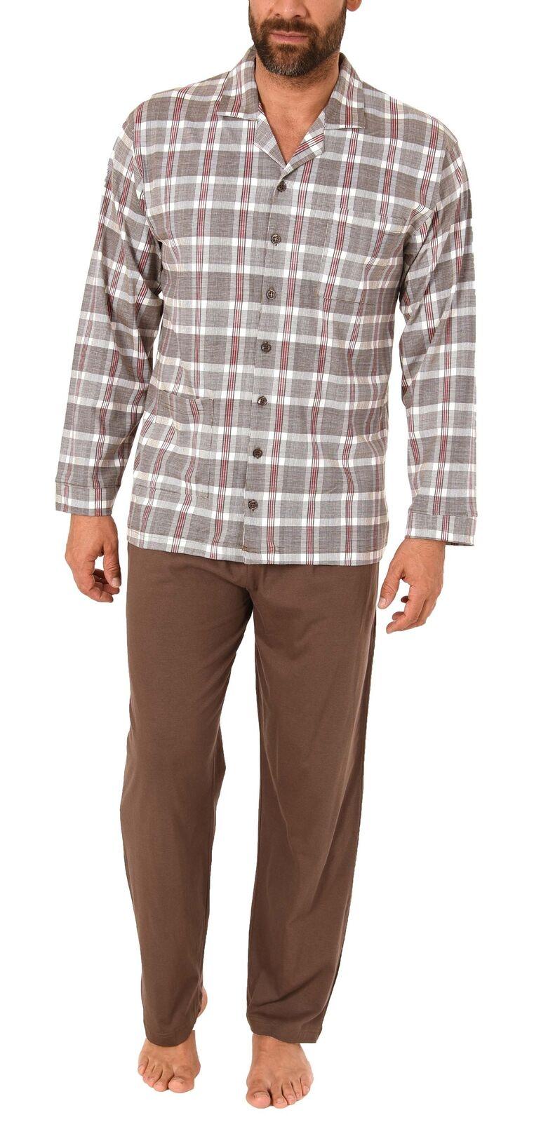 Herren Pyjama Schlafanzug langarm zum durchknöpfen durchknöpfen durchknöpfen – 281 101 90 441 | New Product 2019  2ac088
