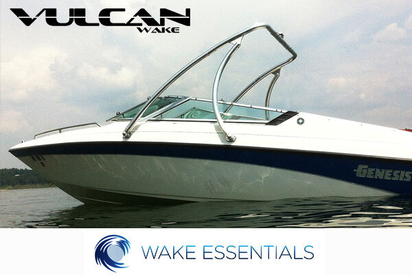 """Vulcan Boost wakeboard tower - Polished -  2.25"""" tubing - from WAKE ESSENTIALS"""