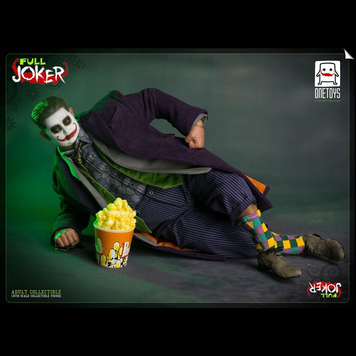 Un Juguetes 1 6 OT008 Payaso Completo Joker Modelo Masculino Figura De Acción Juguetes Coleccionable