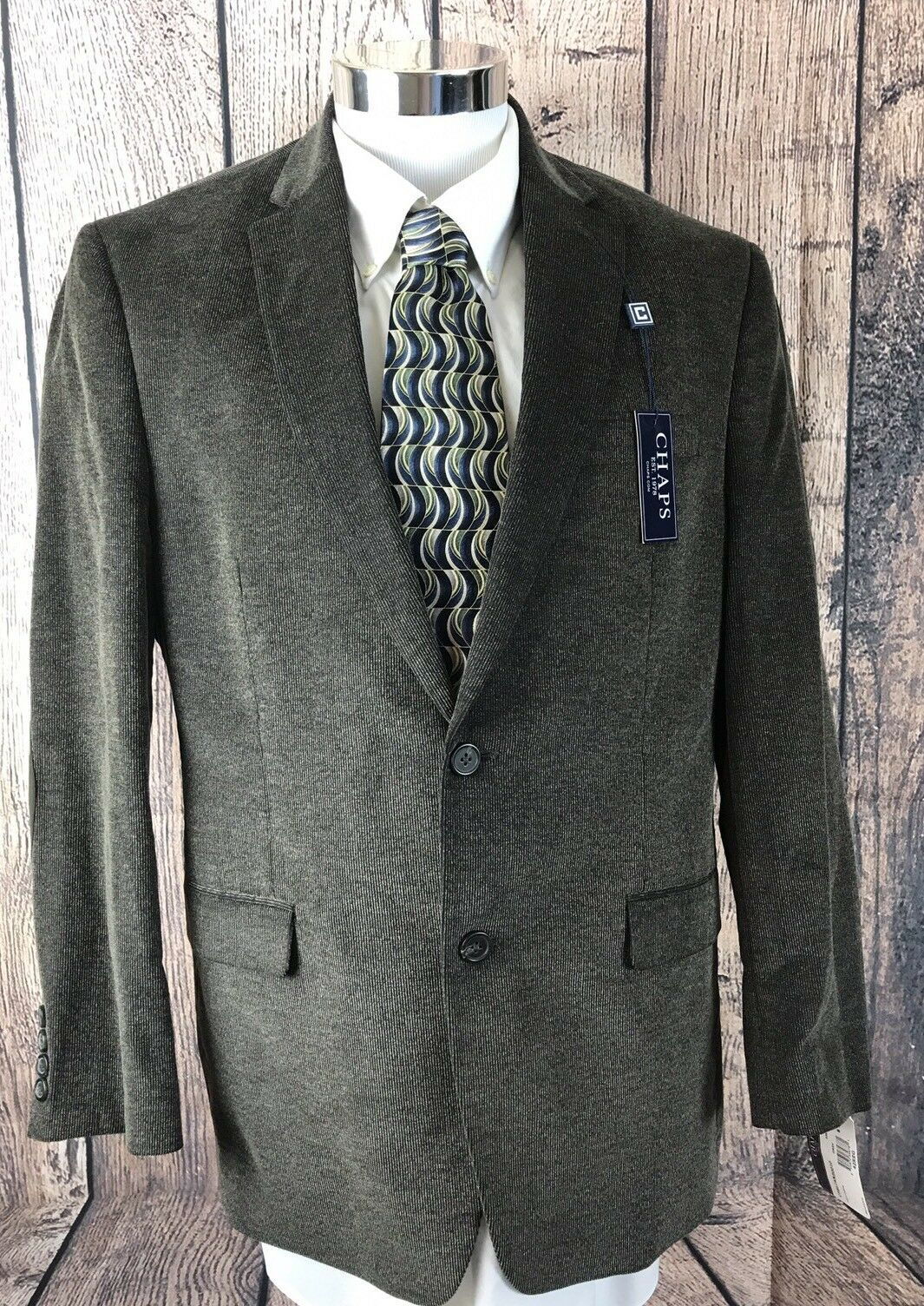 NEW NWT Chaps Ralph Lauren Mens Cotton Corduroy Coat Blazer 2 Btn 42R MSRP