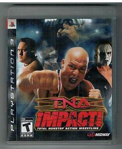 TNA IMPACT! total nonstop action wrestling PS3 PLAYSTATION 3 GAME impact