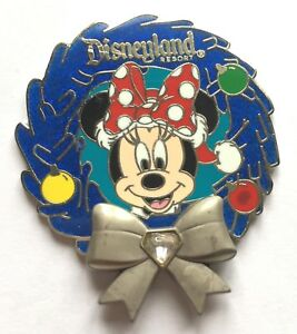 Disney-Pin-Badge-Disneyland-Diamond-Wreath-Minnie-Mouse
