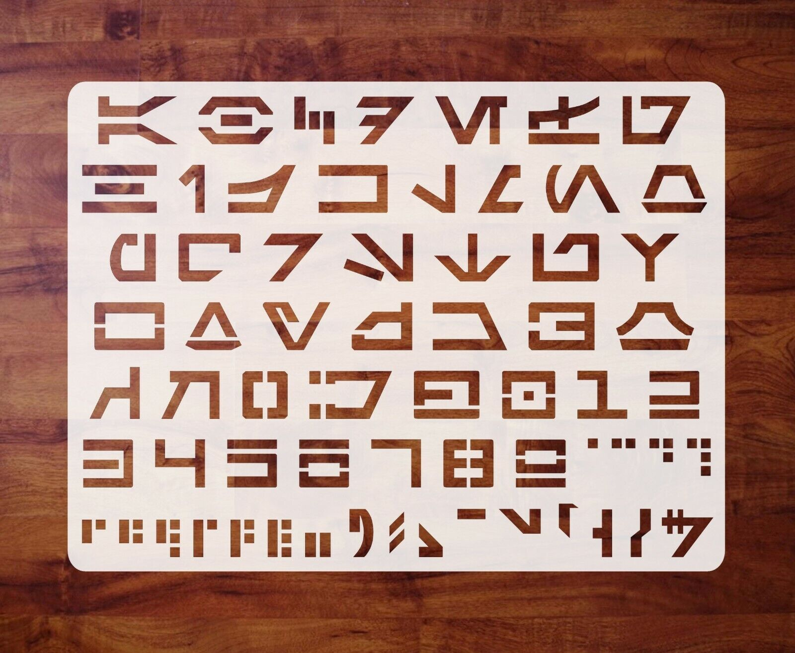 Mylar 1 inch Letters Numbers FREE SHIPPING Aurebesh Stencil Template Star Wars