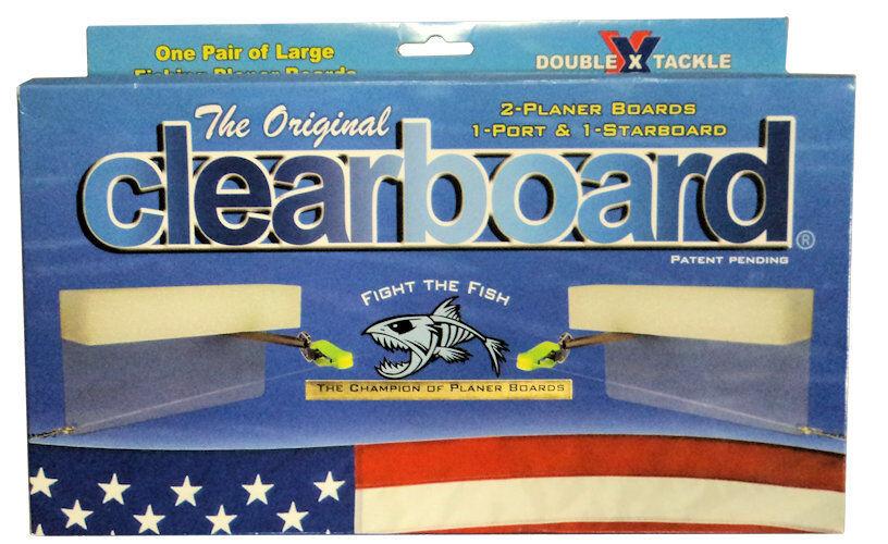 Original Clearboard Planer Boards (1 Port & 1 Starboard) 10.5  x 5.5   OCB-10.5