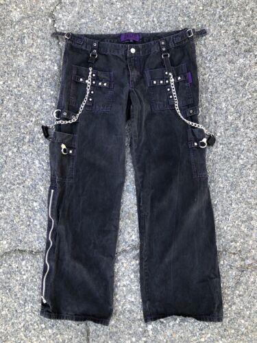 Vintage Tripp NYC Black and Purple Pants goth punk