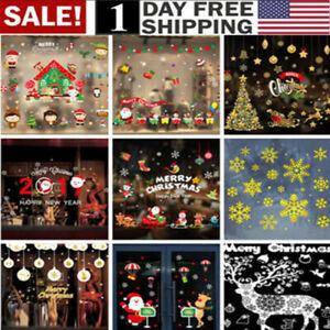 Merry-Christmas-Window-Wall-Sticker-Decals-Snowflake-Santa-Claus-Home-Xmas-Decor