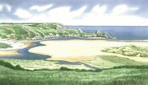 Three Cliffs Bay Beach, Gower, Swansea - Greetings Card - Tony Paultyn
