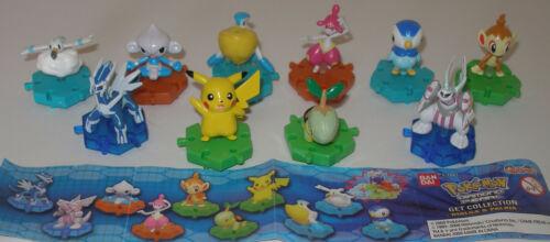 """Satz Fremdfiguren /""""Pokemon/"""" mit Beipackzettel von Tomy 4"""