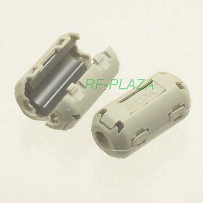 10x TDK Gray-A Φ7mm Cable Clamp Clip RFI//EMI//EMC Noise Filters Ferrite Core Case