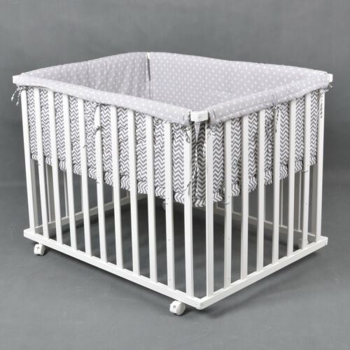 Stoffeinlage WEISS Laufgitter Laufstall 75x100cm Baby Krabbelgitter inkl