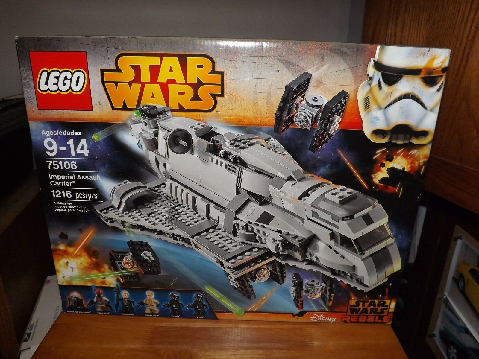 LEGO, STAR WARS REBELS, IMPERIAL ASSAULT CARRIER, KIT  75106, 1216 PCS, NIB 2015