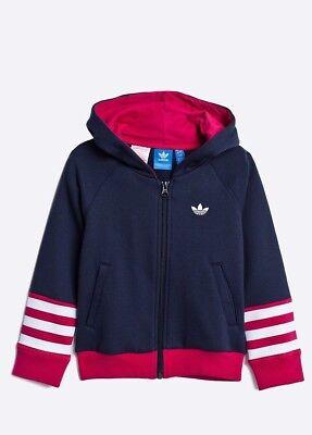 Adidas Originals filles Full Zip Hoodie Junior Haut à Capuche Sweat shirt S96071 | eBay