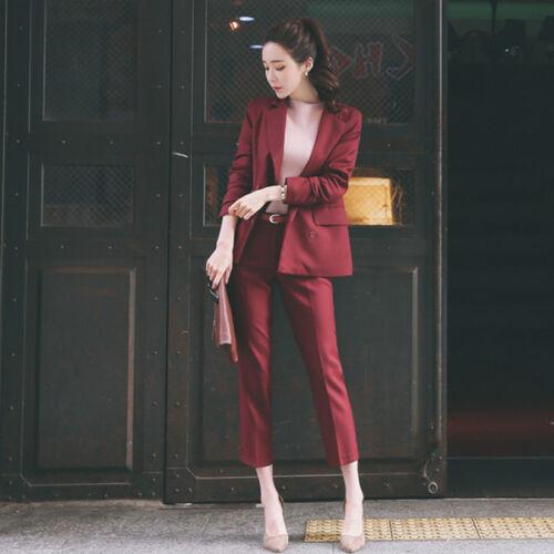 Slim Manica Tailleur Donna Pantalone Completo 7160 Giacca A E Cod Lunga Rosso a7wzXa