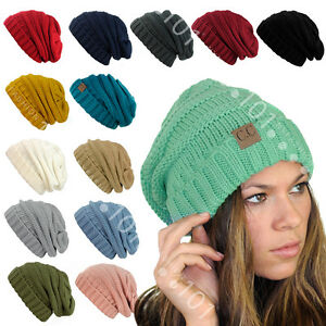 04da939733240 Image is loading CC-Beanie-Exclusive-Over-sized-Baggy-Slouchy-Thick-