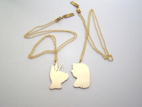 Disney couple Lilo and Stitch pendant in Brass  handmade