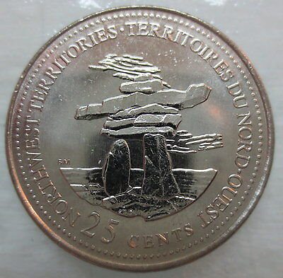 CANADA COINS 1967-1992 125TH ANNIV CONF PROV YUKON TERRITORY QUARTER UNC