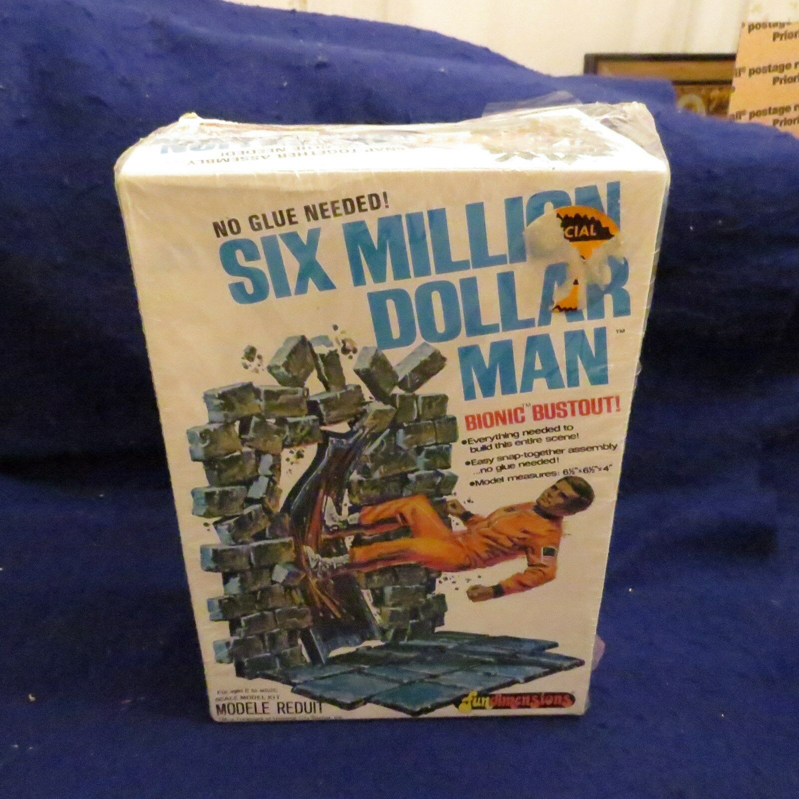 1974 SIX MILLION DOLLAR MAN BIONIC BUST OUT MODEL KIT 1-0601 NEW SEALED