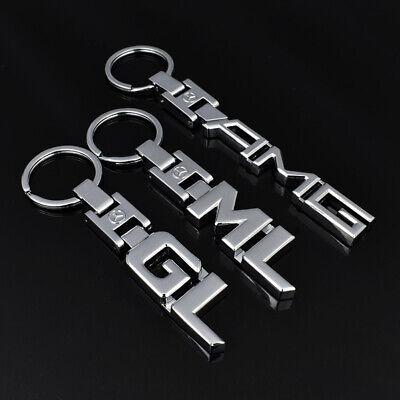 3D Car Keychain Metal Keyring Key Chain Rings For Mercedes Benz GL ML A B C E S